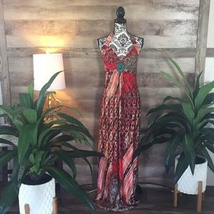 Dresses & Skirts - Size 1X Stunning Vivid Maxi Dress w/ Bead
